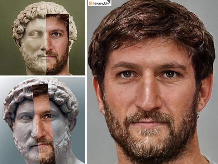 Un artista recrea cómo serían los rostros emperadores romanos usando IA y reconstrucción facial digital 8